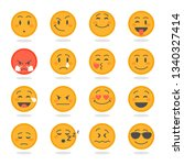 several expressive emoticons in ...   Shutterstock .eps vector #1340327414