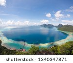 bohey dulang is the second... | Shutterstock . vector #1340347871