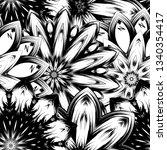 seamless floral background.... | Shutterstock .eps vector #1340354417