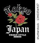 tokyo  japan theme vector... | Shutterstock .eps vector #1340356937