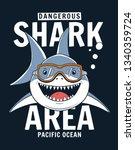 Shark Illustration With Slogan...