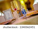 wedding banquet table setting   Shutterstock . vector #1340362451