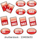 promotional sale labels and... | Shutterstock . vector #13403653