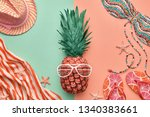 fashion pineapple. clothes... | Shutterstock . vector #1340383661