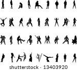 silhouettes of people | Shutterstock .eps vector #13403920