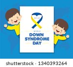 21 march   world down syndrome... | Shutterstock .eps vector #1340393264