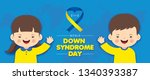 21 march   world down syndrome... | Shutterstock .eps vector #1340393387