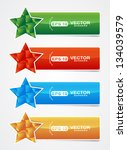 colored star banner with 3d... | Shutterstock .eps vector #134039579