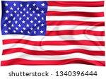 flag of  usa national american...   Shutterstock . vector #1340396444