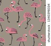 elegant wildlife birds print.... | Shutterstock .eps vector #1340398334