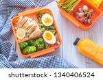 preparing various healthy lunch ... | Shutterstock . vector #1340406524