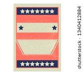 raffle ticket or poster vector... | Shutterstock .eps vector #1340412884