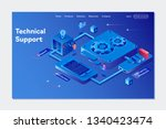 system of technical support.... | Shutterstock .eps vector #1340423474
