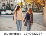 two beautiful and bright... | Shutterstock . vector #1340432297