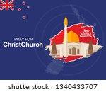pray for christchurch  a... | Shutterstock .eps vector #1340433707