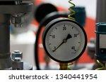 closeup view of a pressure... | Shutterstock . vector #1340441954