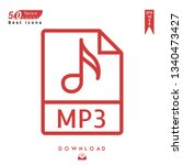 outline mp3 file type icon...