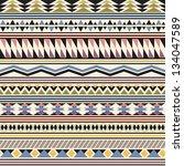 tribal striped seamless pattern.... | Shutterstock .eps vector #134047589