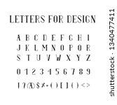 vintage font for alcohol label. ... | Shutterstock .eps vector #1340477411