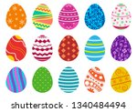 colorful collection of easter... | Shutterstock .eps vector #1340484494