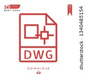 outline dwg file type icon...