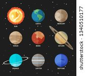 planets set of the solar system.... | Shutterstock .eps vector #1340510177