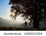 male tourist photographer with... | Shutterstock . vector #1340512334