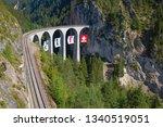 famous landwasser viaduct...   Shutterstock . vector #1340519051