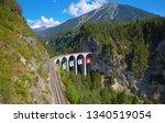famous landwasser viaduct...   Shutterstock . vector #1340519054