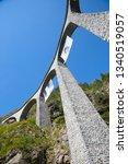 famous landwasser viaduct...   Shutterstock . vector #1340519057
