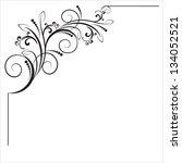 decorative vintage corner....   Shutterstock .eps vector #134052521