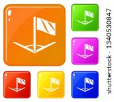 angular football icons set...   Shutterstock .eps vector #1340530847