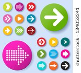 arrow icon set. vector. | Shutterstock .eps vector #134053241