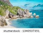 the most beautiful beach of... | Shutterstock . vector #1340537351