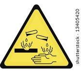 corrosive sign   Shutterstock . vector #13405420