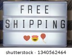 lightbox with lettering free... | Shutterstock . vector #1340562464