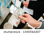 Hands Of Businessman Give Money ...
