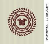 red shirt icon inside rubber...   Shutterstock .eps vector #1340590394
