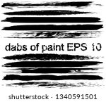 collection of paint strokes....   Shutterstock .eps vector #1340591501