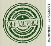 green off licence rubber grunge ...   Shutterstock .eps vector #1340620031