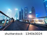the night view of the lujiazui... | Shutterstock . vector #134063024