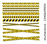caution and danger tapes.... | Shutterstock .eps vector #1340649854