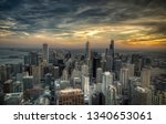 sunset over chicago | Shutterstock . vector #1340653061