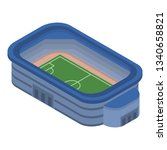 soccer stadium icon. isometric... | Shutterstock . vector #1340658821