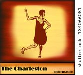 the charleston  vintage vector... | Shutterstock .eps vector #134066081