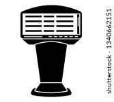newspaper vending machine icon. ...   Shutterstock . vector #1340662151