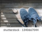 blue sport shoes  moccasin ... | Shutterstock . vector #1340667044