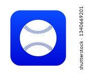baseball icon digital blue for... | Shutterstock . vector #1340669201