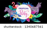 tropical hawaiian party... | Shutterstock .eps vector #1340687561