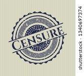 blue censure distress rubber...   Shutterstock .eps vector #1340697374